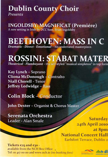 Beethoven's Mass in C, Rossini, Ingoldsby