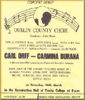 Carmina Burana at TCD - 1981